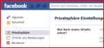 Facebook: Privatsphäre einstellen